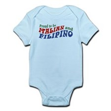 Proud to be Italian and Filipino Onesie