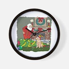 Santa's Helper Shar Pei Wall Clock