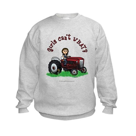 Light Red Farmer Kids Sweatshirt