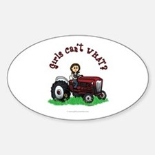 Light Red Farmer Oval Decal