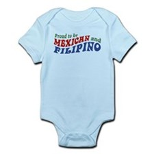 Proud to be Mexican and Filipino Onesie