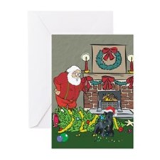 Santa's Helper Scottie Greeting Cards (Pk of 20)
