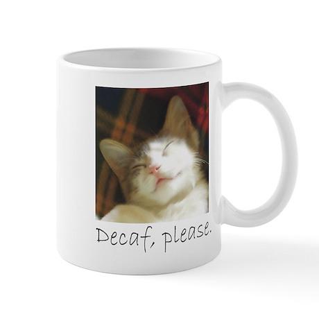 Decaffeinated kitten coffee mug