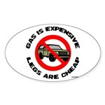 Expensive Gas/Anti-SUV Oval Sticker