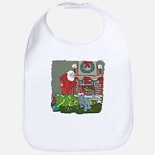 Santa's Helper Schnauzer Bib