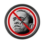 Anti-Barack Obama Large Wall Clock