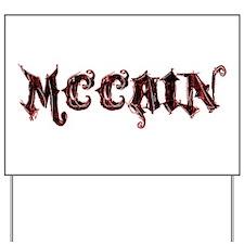 McCain Grunge Logo Yard Sign