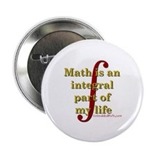 "Math is integral 2.25"" Button (100 pack)"