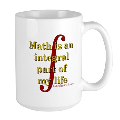 Math is integral Large Mug