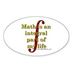 Math is integral Oval Sticker (10 pk)