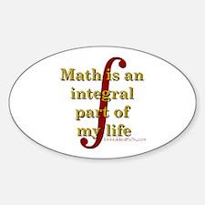 Math is integral Oval Sticker (10 pk)