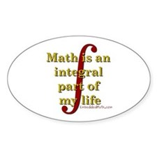 Math is integral Oval Decal