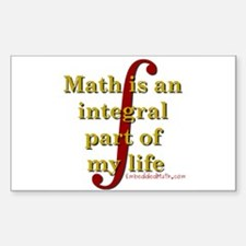 Math is integral Rectangle Sticker 10 pk)