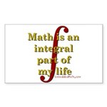 Math is integral Rectangle Sticker 50 pk)