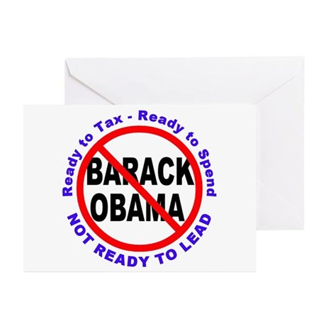 Anti Barack Obama Not Ready Greeting Cards (Pk of