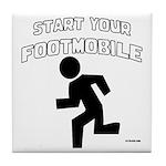 Footmobile walking/running Tile Coaster