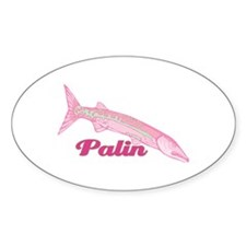 Palin Pink Barracuda Oval Decal