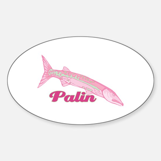 Palin Pink Barracuda Oval Decal