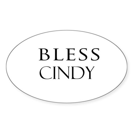 CINDY Oval Sticker