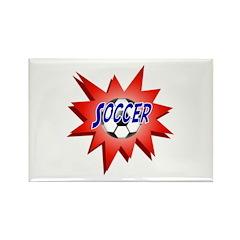 Soccer USA Rectangle Magnet (100 pack)