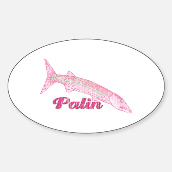 Palin Barracuda Retro Oval Decal