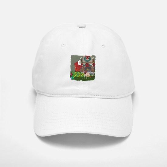 Santa's Helper Pug Baseball Baseball Cap