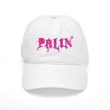 Palin Pink Grunge Logo Baseball Cap
