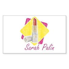 Sarah Palin Retro Lipstick Rectangle Decal