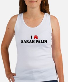 I LOVE SARAH PALIN BUMPER STICKER SHIRT REPUBLICNA