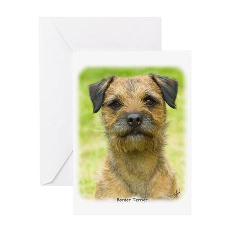 Border Terrier 8W44D-23 Greeting Card