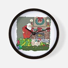 Santa's Helper Pekingese Wall Clock