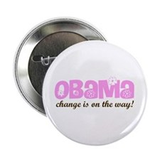 "Obama Change is On the Way 2.25"" Button"
