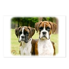 Boxer puppies 9Y049D-064 Postcards (Package of 8)