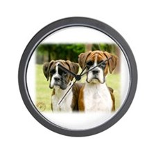 Boxer puppies 9Y049D-064 Wall Clock