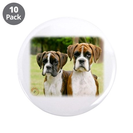 "Boxer puppies 9Y049D-064 3.5"" Button (10 pack)"