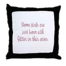 Cute Glitter Throw Pillow