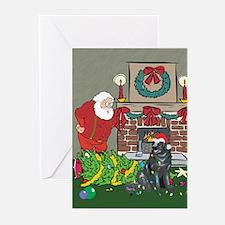Santa's Helper Newfoundland Greeting Cards (Pk of