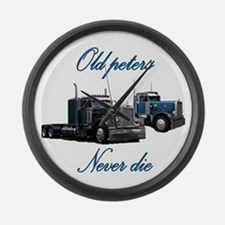 Old Peter Never Die Large Wall Clock