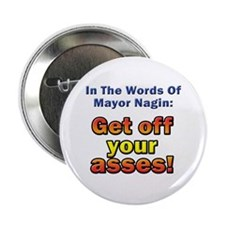"""Get Off Your Asses! 2.25"""" Button (100 pack)"""