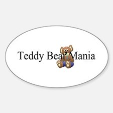 Teddy Bear Mania Sticker (Oval)
