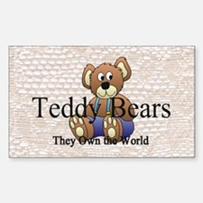 Teddy Bear Mania Sticker (Rectangle)