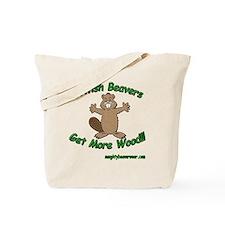 British Beavers Get More Wood Tote Bag