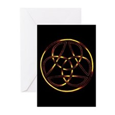 Fire Trinity Circle Greeting Cards (Pk of 10)