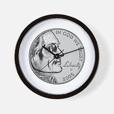 "American Bison Nickel ""D"" Wall Clock"