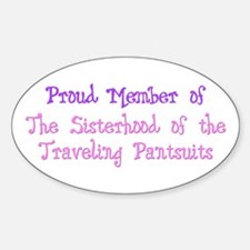 Sisterhood of the Traveling P Oval Decal