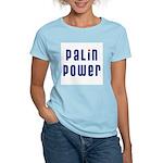 Palin Power blue font Women's Light T-Shirt