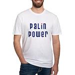Palin Power blue font Fitted T-Shirt