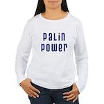 Palin Power blue font Women's Long Sleeve T-Shirt
