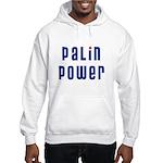 Palin Power blue font Hooded Sweatshirt