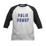 Palin Power blue font Kids Baseball Jersey